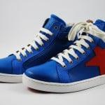 Sneaker blau Stern rot
