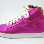 Sneaker glänzend pink