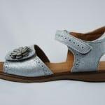 Silberne Sandale