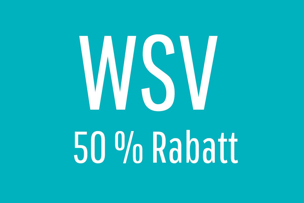 WSV – 50 % Rabatt