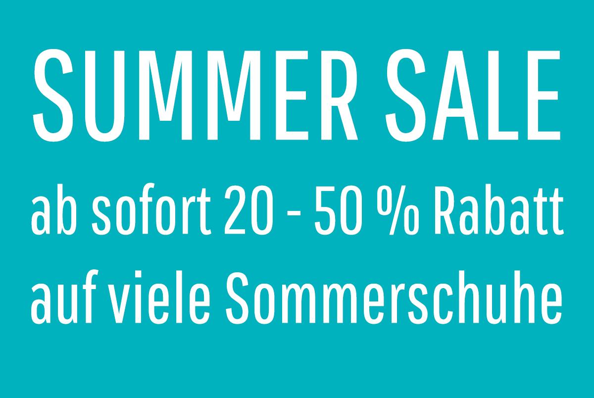 Summer Sale mit bis zu 50% Rabatt
